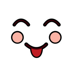 tongue out happy face emoji icon image vector image