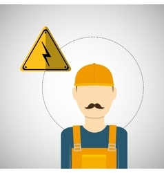 Under construction design supplies icon worker vector image