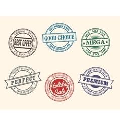 Vintage Stamp Set vector image vector image