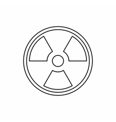 Radioactive sign icon outline style vector