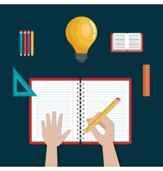 Writing learning education icons school design vector