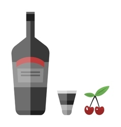 Alcohol drink bottle vector