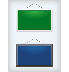 Set of two sign boards hanging on a nail vector