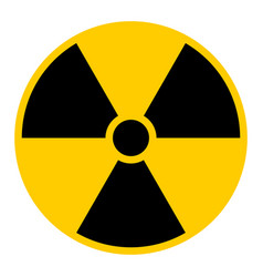 Ionizing radiation symbol attention warning sign vector
