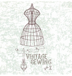 Vintage sewing vector