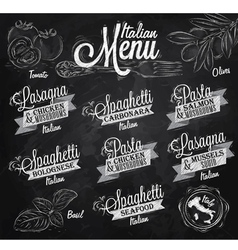 Menu italian chalk vector