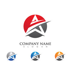 A letter logo business template icon vector