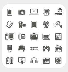 Electronic device icons set vector