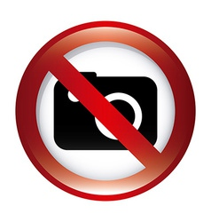 Forbidden camera design vector