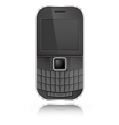 339 Qwerty Mobile vector image