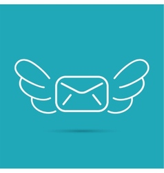 Envelope with wings vector