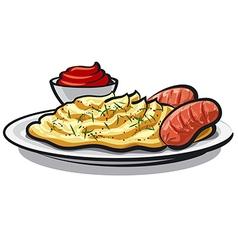 mashed potatoes vector image