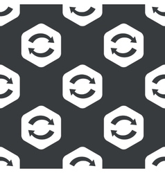 Black hexagon exchange pattern vector