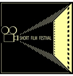 Short film festival cinema film festival poster vector
