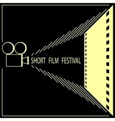 Short film festival cinema film festival poster vector