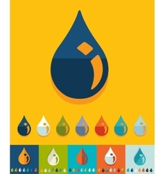 Flat design drop of oil vector