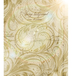 Vintage Background with Floral Pattern vector image