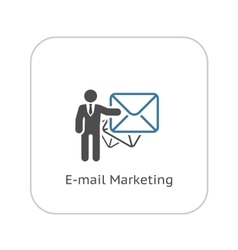 Email marketing icon flat design vector