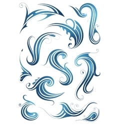 Water swirls vector