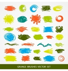 Big set of grunge brush strokes vector