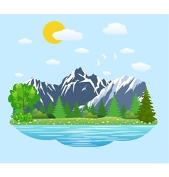 Natural landscape in the flat style vector