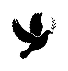 Dove of peace simple icon flying dove of peace vector