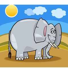 african elephant cartoon vector image vector image