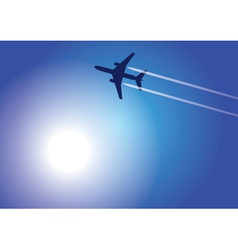 aircraft flying high vector image vector image
