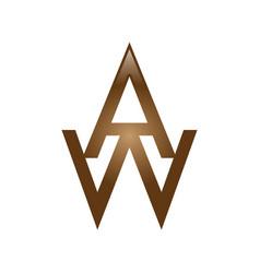 aw letter logo vector image