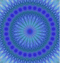 Blue abstract star mandala fractal background vector