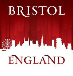 Bristol England city skyline silhouette vector image