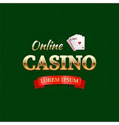 Casino logotype concept casino typography design vector image vector image