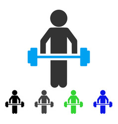 Child power lifting flat icon vector