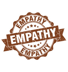 Empathy stamp sign seal vector