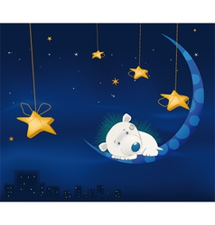 Fairy tale about a small hedgehog vector image vector image