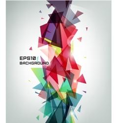 geometric shape abstract futuristic vector image