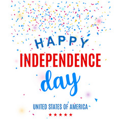 happy fourth of july greeting card template vector image vector image
