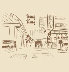 Hong kong street vector