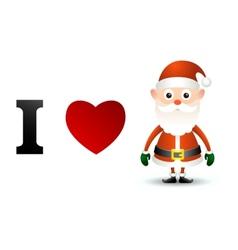 I love Santa Claus card vector image