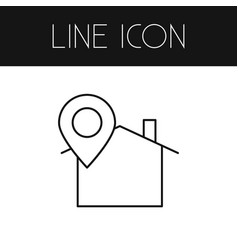 Isolated location icon line pinpoint vector