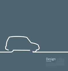 Laconic design car minibus cleanness line vector