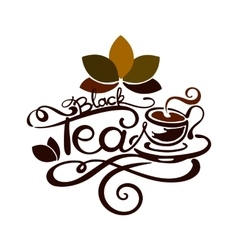 Lettering - black tea vector