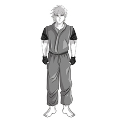 Man boy anime comic design vector