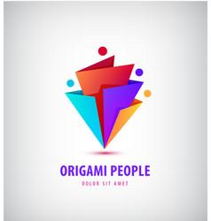 men group logo human family teamwork vector image vector image