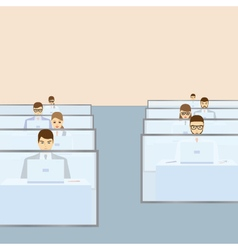 People working in the office Call center vector image vector image