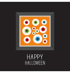Picture frame eyeballs with bloody streaks vector