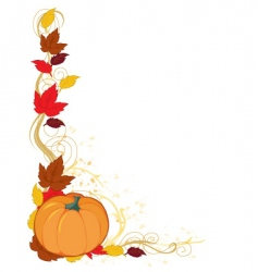 pumpkin autumn border vector image vector image