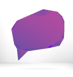 Purple speech bubble EPS8 vector image vector image