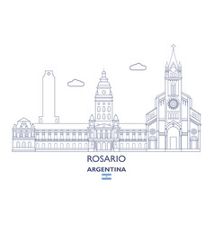 Rosario city skyline vector
