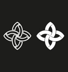 Sacred geometric logo black and white overlapping vector